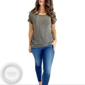 COSTUME NATIONAL Distressed Open Back Knit Top